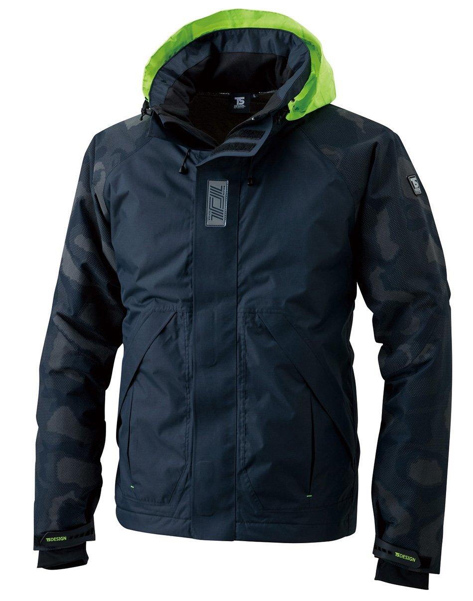 TS DESIGN メガヒートフラッシュ防水防寒ジャケット 秋冬用 18236 45 ネイビー 3L B075CQ5MRN 3L|ネイビー