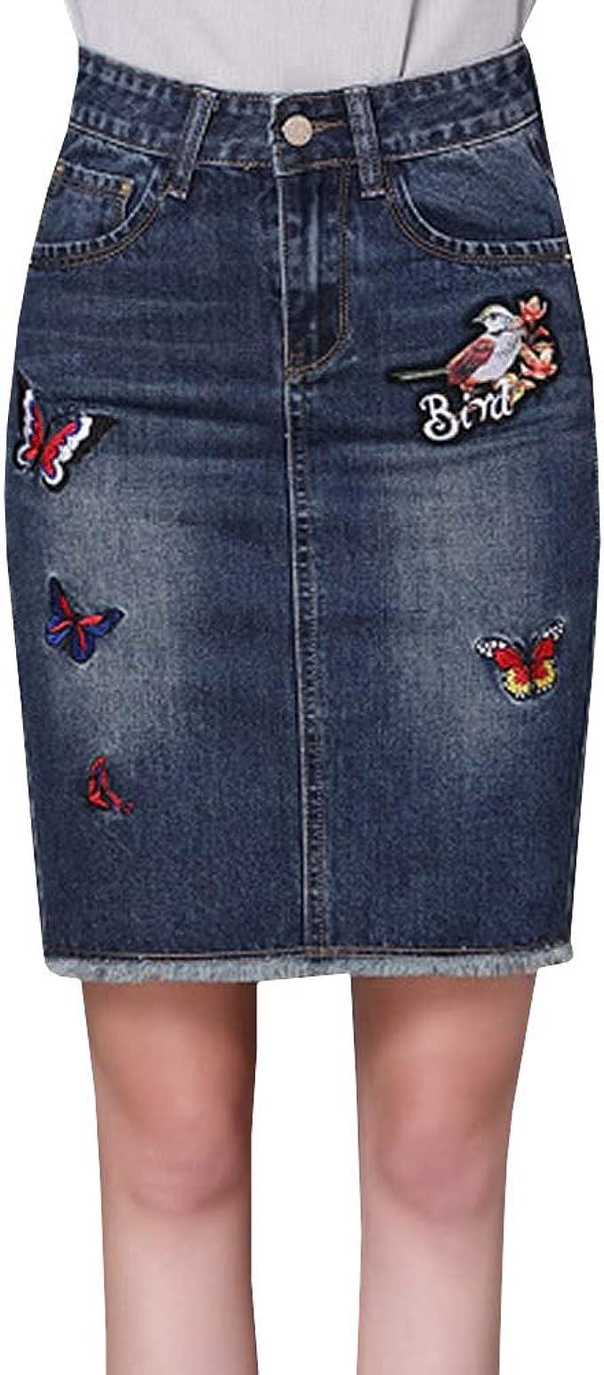 E-Girl E392 - Falda para Mujer (Tejido Vaquero, Talla Grande ...