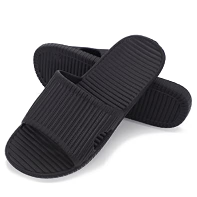 3700044abafb15 Moodeng Shower Slippers Men and Women Non-Slip Causal Indoor Home Bathroom  Sandals Poolside (