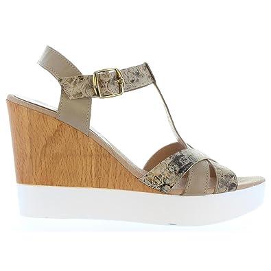 Sandalen für Damen VAQUETILLAS 20159 COMBI NAPA OLIVE Schuhgröße 36 Vaquetillas QmnxLiO