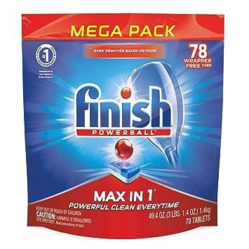 Amazon.com: Finish Quantum Max Fresh, Tabletas de detergente ...
