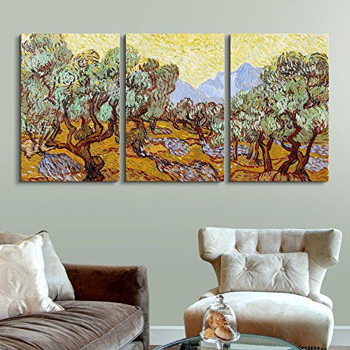 3 Panel Olive Trees by Vincent Van Gogh Gallery x 3 Panels
