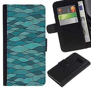 Billetera de Cuero Caso Titular de la tarjeta Carcasa Funda para Samsung Galaxy S6 SM-G920 / Modern Art Road Structure Architecture / STRONG