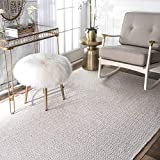 nuLOOM HMCO6B Hand Loomed Kimberely Area Rug, 9′ x 12′ Taupe
