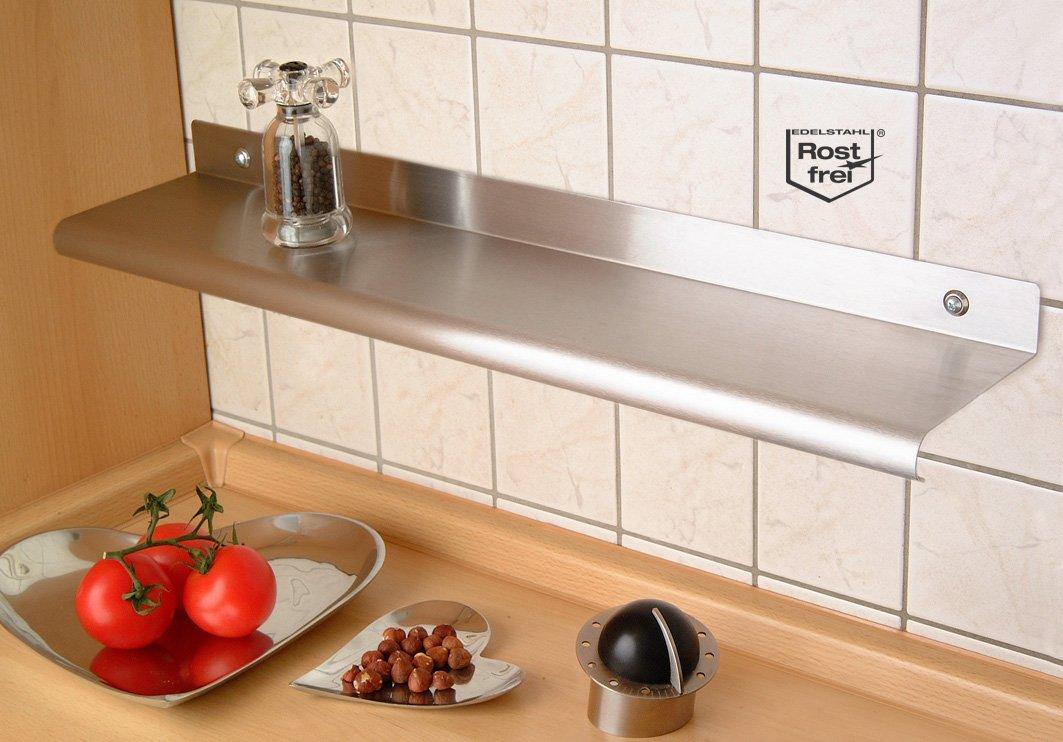M&M Wandregal 58 cm aus Edelstahl, 2er Set: Amazon.de: Küche & Haushalt