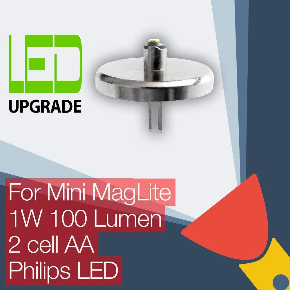 HQRP ultra lumineuse 300 LM High Power 3 W Ampoule DEL pour Maglite 2-3D 2-3 C lampes de poche