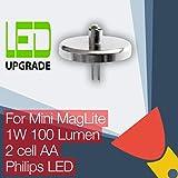 Mini MagLite LED Conversion/Upgrade Bulb for Mini MagLite Torch/Flashlight 2AA Cell Philips LED