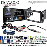 Volunteer Audio Kenwood DDX9704S Double Din Radio Install Kit with Apple Carplay Android Auto Fits 2007-2013 Silverado, Avalanche (Retains steering wheel controls)