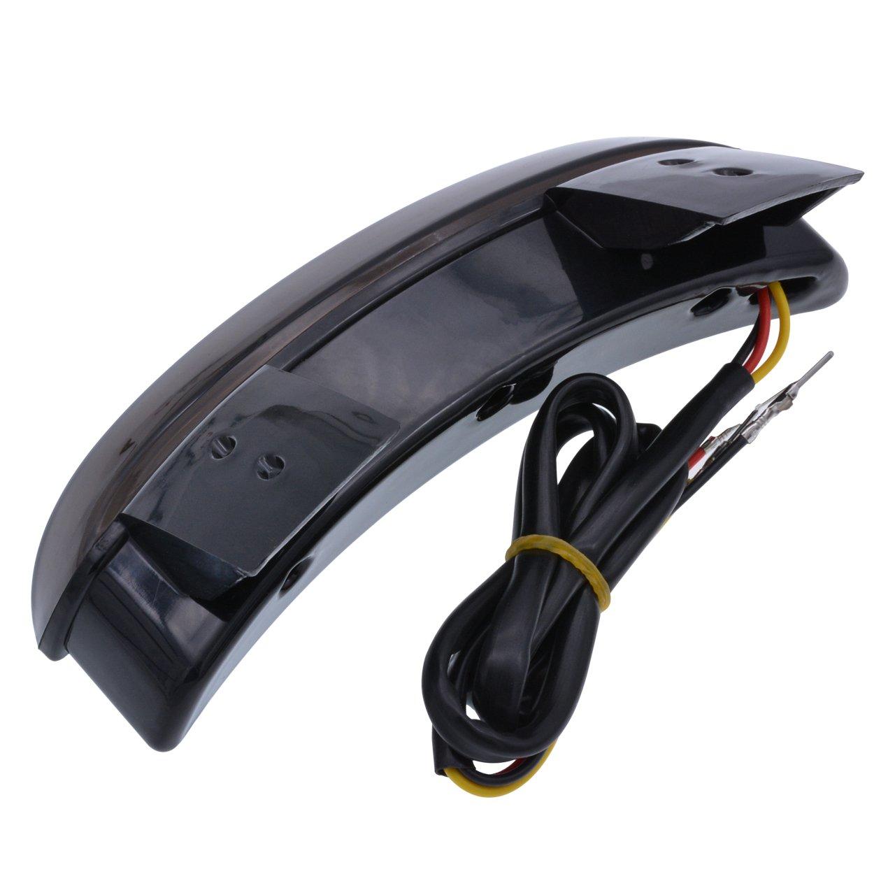Tuincyn moto parafango posteriore rosso lente tritato Edge fanale posteriore freno targa LED luce stop luci di ricambio per Harley Sportster XL883/N 1200/N XL1200/V XL1200/x