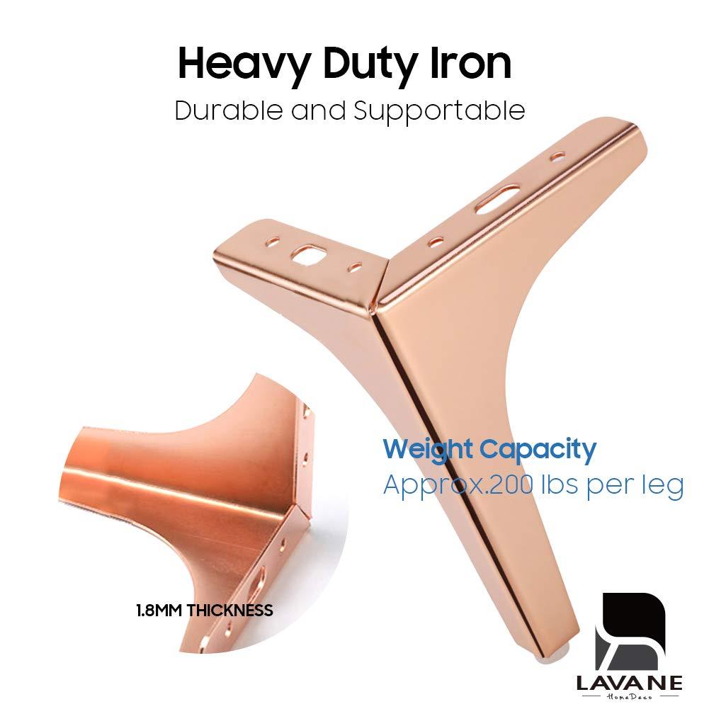 Amazon.com: La Vane - Juego de 4 patas de muebles de metal ...