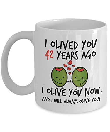 Amazon 42nd Wedding Anniversary Gifts For Him I Olived You