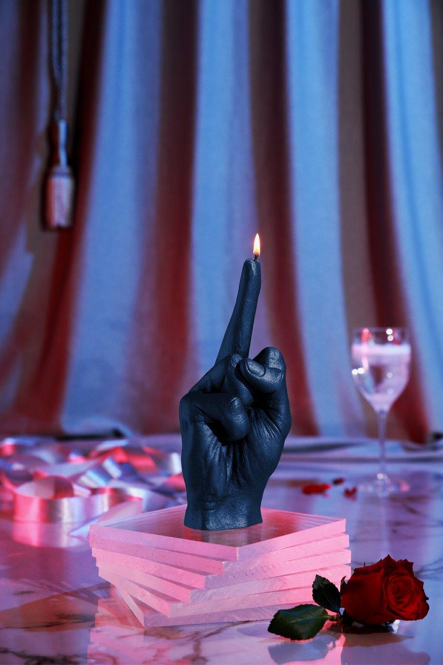 Candellana Candles Middle Finger Candle-Dark Blue,
