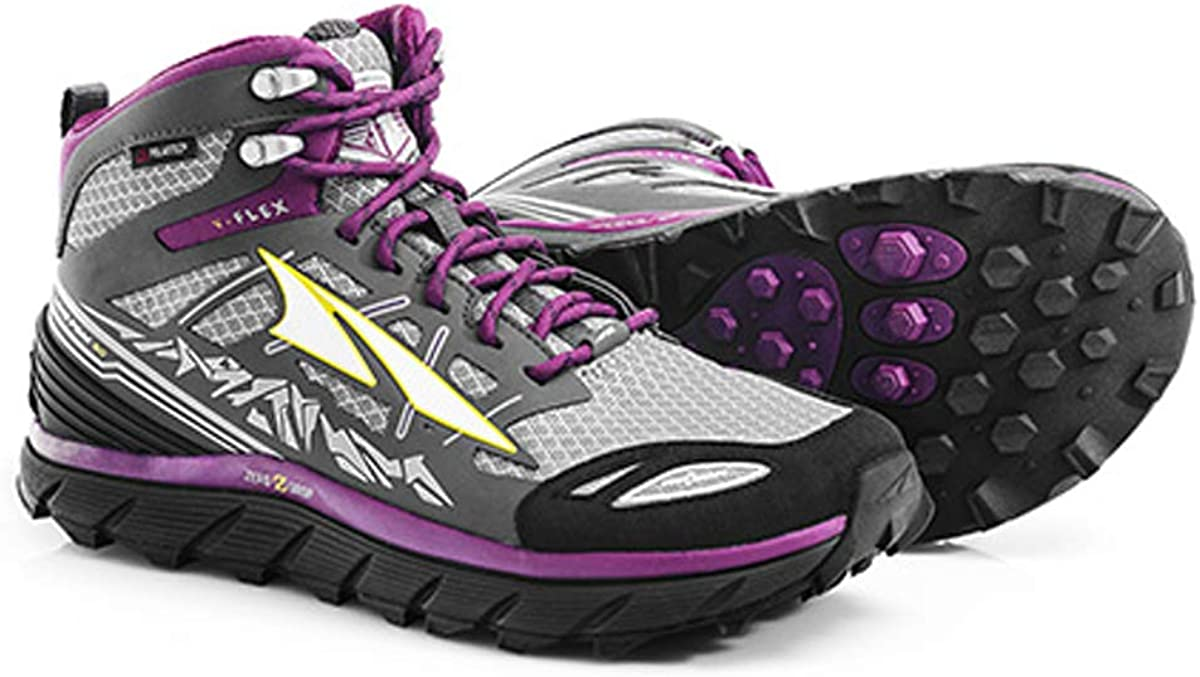 Altra Footwear Women s Lone Peak 3.0 Mid Neoshell Trail Running Shoe,Gray Purple