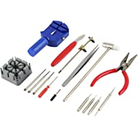 1 set 16pcs Kit di attrezzi per la riparazione dell'orologio Cinturino da polso Regola il cinturino Pin Strap Link Remover Fix Back Opener Remover