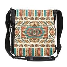 NYYSBU Crossbody Messenger Bag Awesome Mexican Blanket Stripes Shoulder Tote Sling Postman Bags One Size