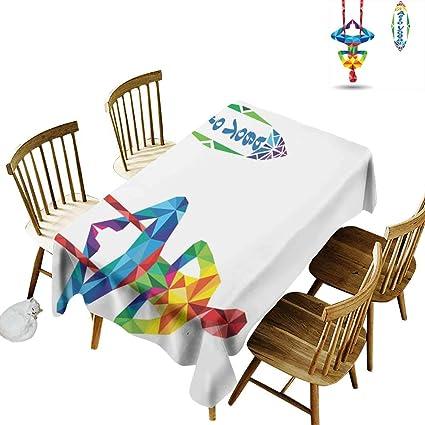 Amazon.com: W Machine Sky Stain-Resistant Tablecloth Yoga ...