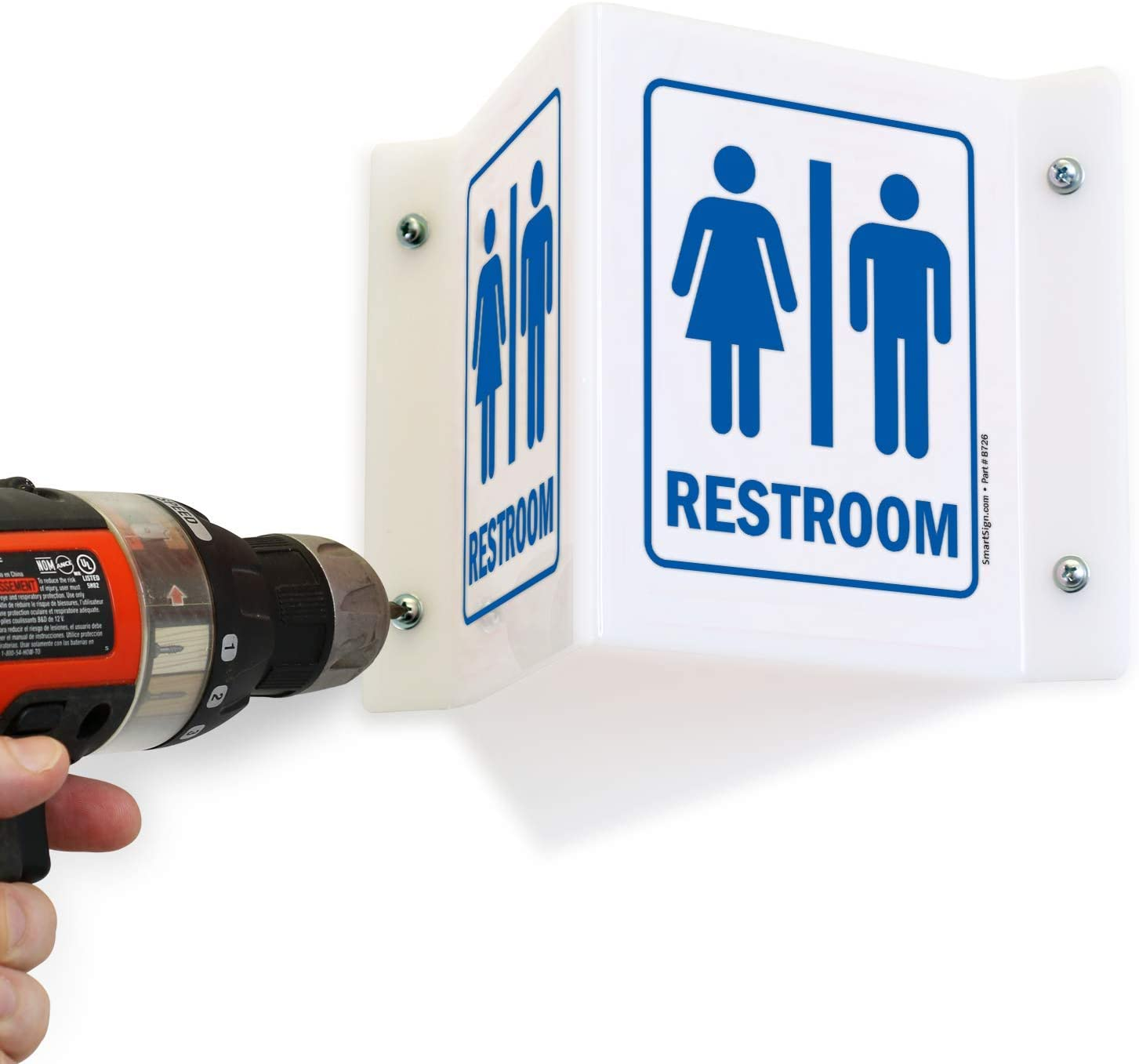SmartSign/Mens Restroom Projecting Sign 6 x 6 Acrylic Lyle Signs Inc.