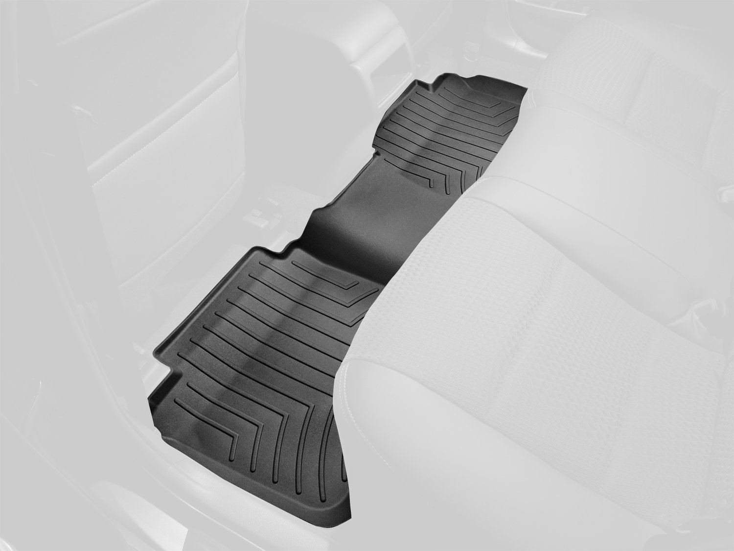 WeatherTech Custom Fit Rear FloorLiner for Volvo XC60 (Black) 442342