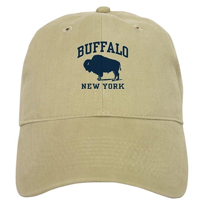 ceae93f6 Amazon.com: CafePress - Buffalo New York Cap - Baseball Cap with ...