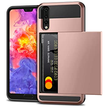 Vunake Case for Huawei P20 Pro, [Card Slot] Armor Shockproof Case Huawei  P20 Pro Case Wallet Case Protection Holder Rubber Bumper Protective Cover