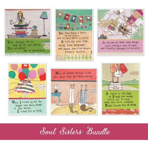 Curly Girl Design AZBUNDLE8 Soul Sister Card Bundle by Curly Girl Design