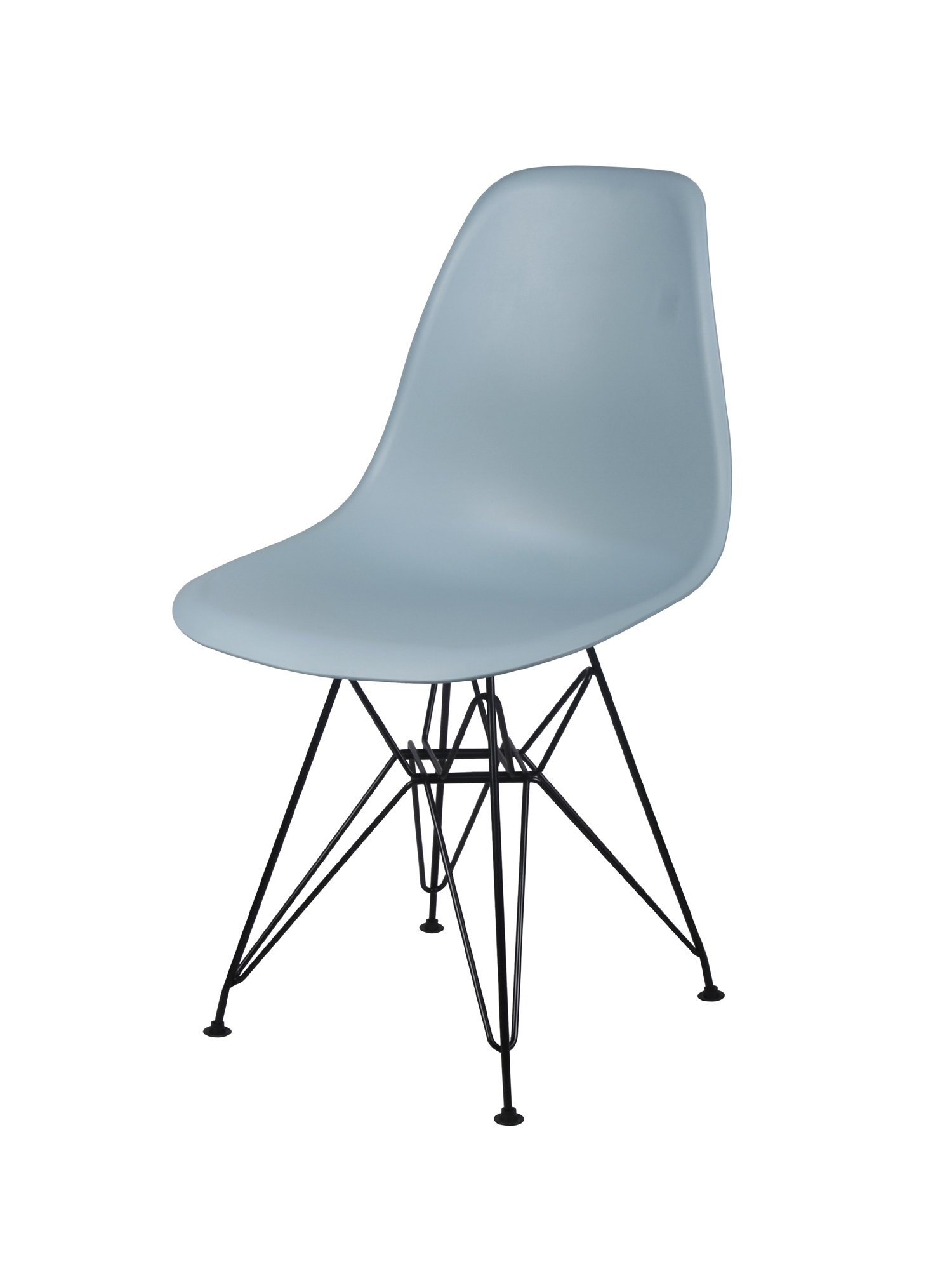 GIA Mid-Century Plastic Chair, 1-Pack, Fog/Black Metal Legs - STURDY CONSTRUCTION: Well-made and built to last. Black Eiffel supports ensure stability. Makes a beautiful and elegant addition to any room. CONTEMPORARY: Adds a designer touch to your home or office. Your friends and family will be envious of your great taste in furniture. MEASUREMENTS: Chairs are 32 inches high, 18 inches deep and 18 inches wide. - kitchen-dining-room-furniture, kitchen-dining-room, kitchen-dining-room-chairs - 61WJAN9tNmL -