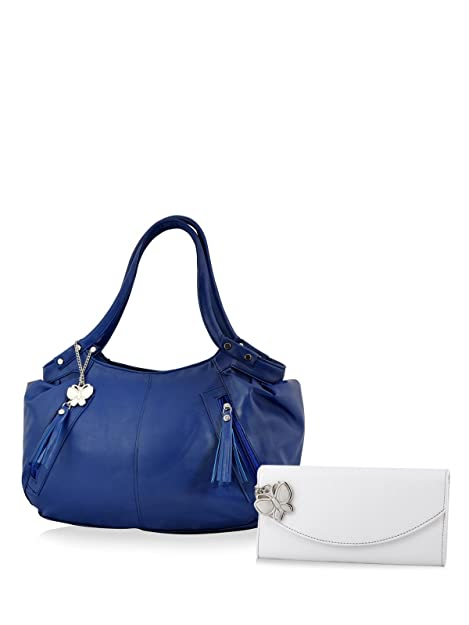 Butterflies Women's Trendy Combo Wallet (Blue and White) (BNS CB037) Women's Wallets at amazon