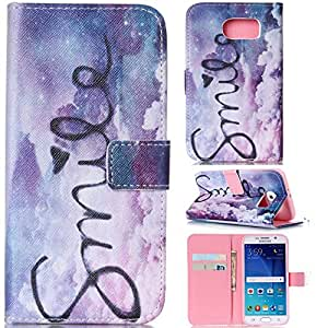 S6 Case,S6 Wallet Case,Kaseberry Beatiful Elegant Design Leather Wallet Case Flap Closure Protective Cover for Samsung Galaxy S6