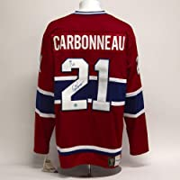 $273 » Guy Carbonneau Montreal Canadiens Signed 1993 Cup Note Fanatics Vintage Jersey - Autographed NHL Jerseys