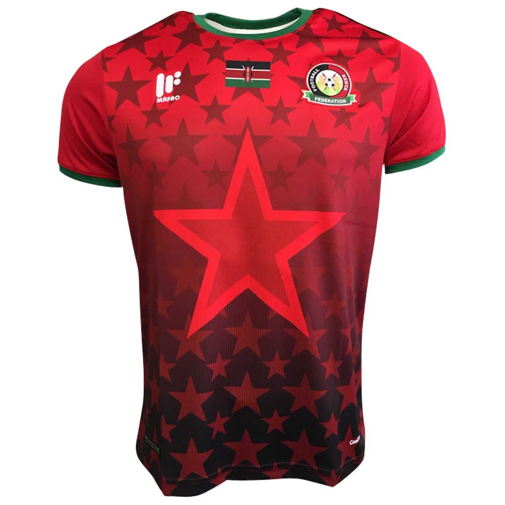 2017-2018 Kenya Home Football Shirt B074WP1SBR Large Adults|Red Red Large Adults