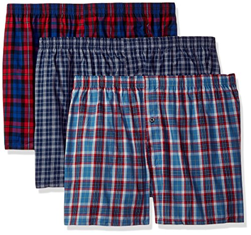 Fruit of the Loom Men's 3-Pack Premium Man Boxer, Assorted, 3X-Large Big