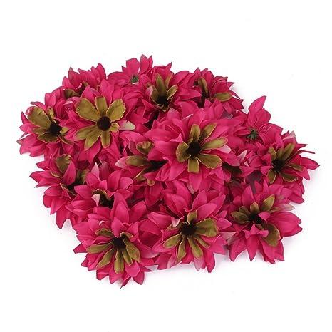 20x Clip Pinza de Flor Artificial Margarita para Pelo Boda Novia Fucsia e9c4b16a017e