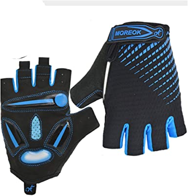 Cycling Gloves Half Finger MTB Bicycle Palm Gel Silicone Fingerless Gym Fitness