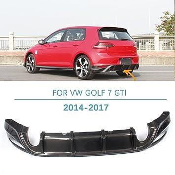 Rear Diffuser For VW Golf 7 GTI 2014 2017 Carbon Fiber Rear Bumper Lip By