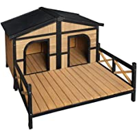 i.Pet Dog Kennel Wooden Pet Puppy House Timber