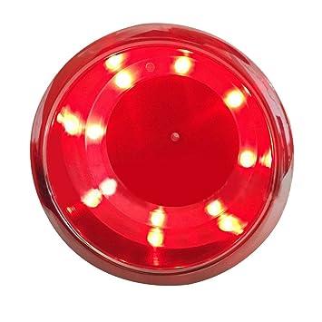 LED Portavasos Coche, 1 pedazo 8 luces LED Titular de copa de bebida de acero