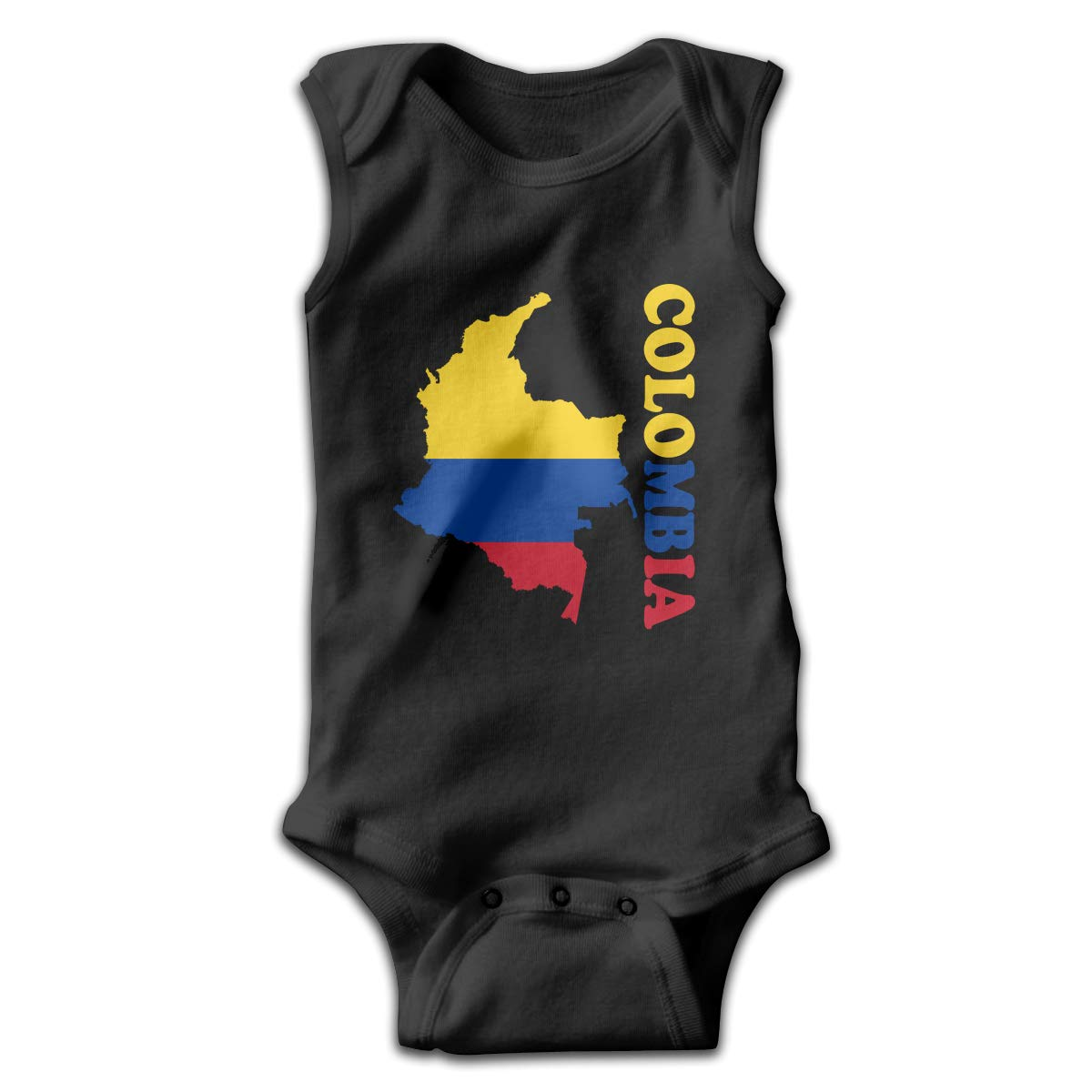 MMSSsJQ6 Colombia Flag Map Infant Baby Boys Girls Crawling Suit Sleeveless Romper Bodysuit Rompers Jumpsuit
