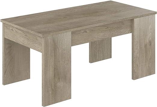Marque Amazon Movian Table Basse Avec Plateau Relevable Aggol Modern 50 X 100 X 44 Effet Chêne