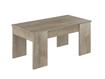 Movian Aggol Modern - Mesa de centro elevable, 50 x 100 x 44 cm (Efecto Roble): Amazon.es: Hogar