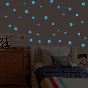 Moon Star auto-adhesivo brillante en la noche Pegatinas de Pared Calcomanía Para Habitación De Niños