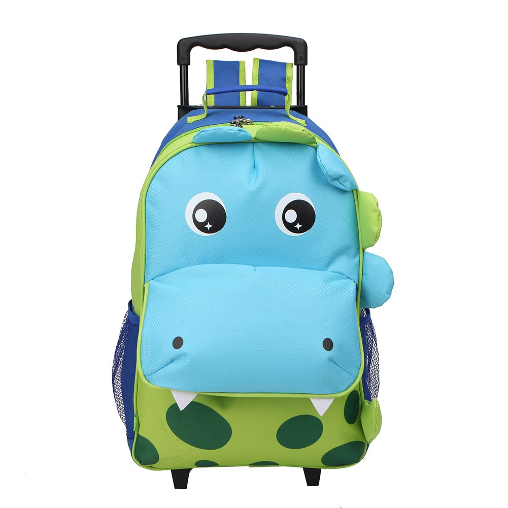 Yodo Upgraded Large Convertible 3-Way Kids Suitcase Rolling Luggage or Toddler Backpack with Wheels, Large Front Quick Access Pouch for Snacks or Knickknacks, Dinosaur Yodo Group CA424045