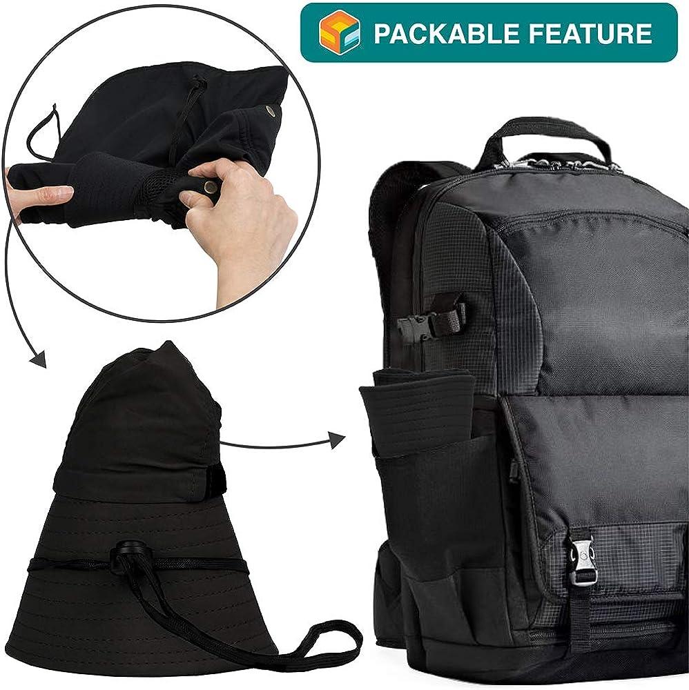 Fishing Hat with Neck Flap Sun Protection Hiking Hat for Men Women Safari Cap