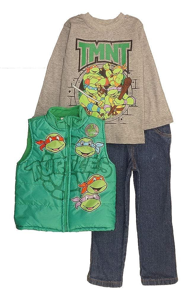 Teenage Mutant Ninja Turtles Little Boys' 3-Piece Vest & Pant Set