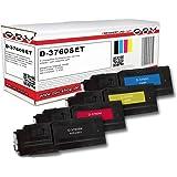 4 x Cartouche de toner compatible avec Dell C3760 / C3765, Noir ,Cyan ,Magenta, Jaune