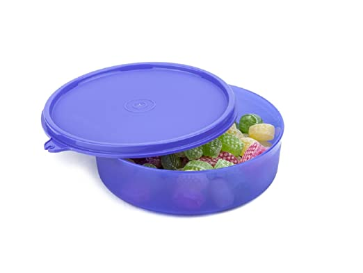 Signoraware New Classic Small Round Container, 550ml, Violet Lunch Boxes at amazon