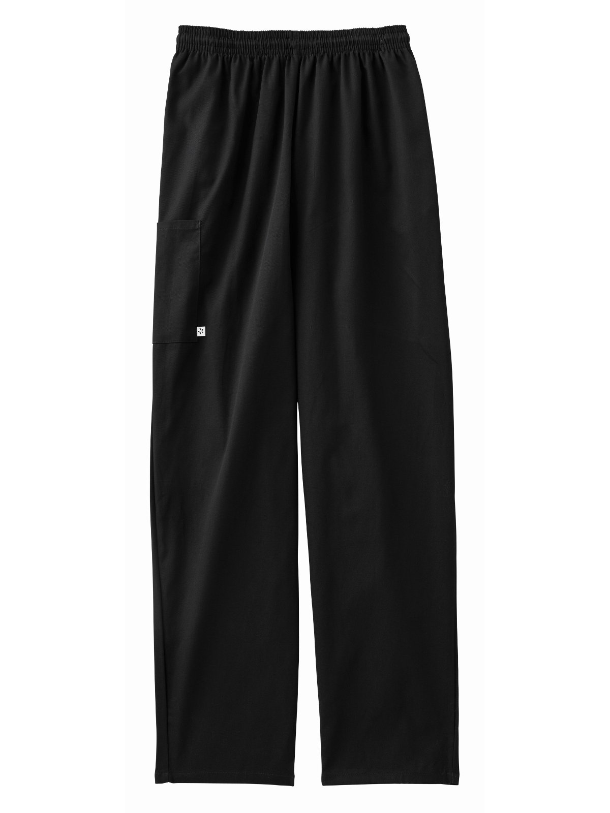 Five Star 18100 Adult's Pull-On Baggy Pant Black Small