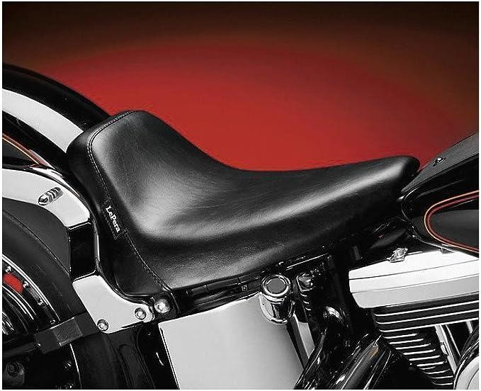 Le Pera LXE-007 Smooth Bare Bones Solo Seat 08-17 Harley FLST FLSTC Softail