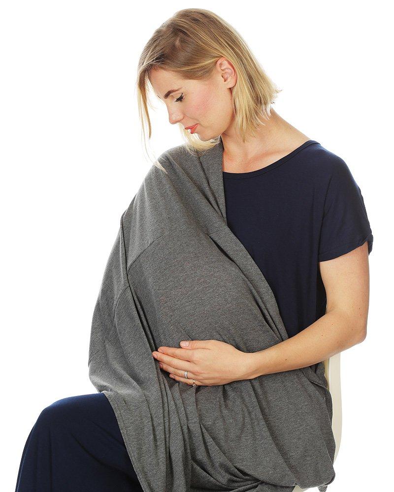 Kiddo Care Nursing Cover Infinity Nursing Scarf for Breastfeeding (Dashing Dark Grey)