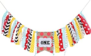 Carnival Circus Party Supplies For 1st Birthday - One Burlap High Chair Banner For Photo Booth Props,Carnival Circus Banner Backdrop Cake Smash,Greatest Showman Party Supplies (Carnival Circus Banner)