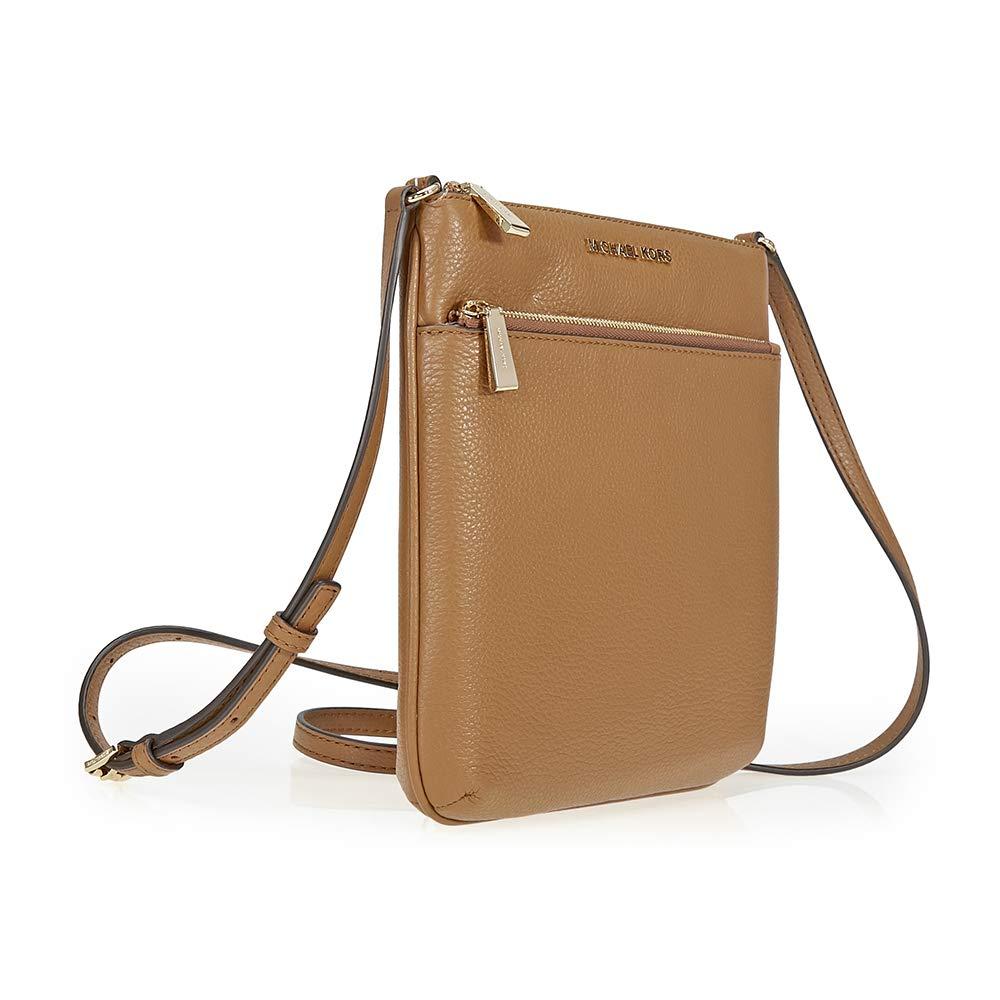 1026fd6c447c Michael Kors Riley Small Flat Leather Crossbody - Acorn: Handbags:  Amazon.com